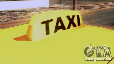 Taxi Kuruma 0.9 para GTA San Andreas vista hacia atrás