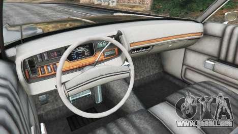 GTA 5 Dodge Polara 1971 Police vista lateral trasera derecha
