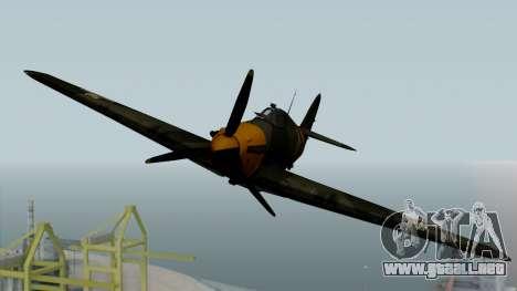 Hawker Hurricane Mk1 - Romania Nr. 1 para la visión correcta GTA San Andreas