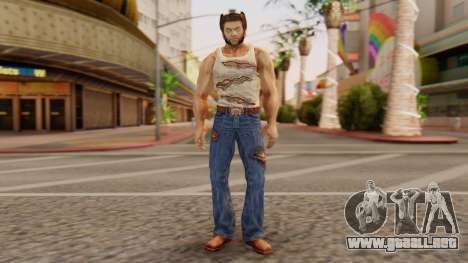 Wolverine v1 para GTA San Andreas segunda pantalla