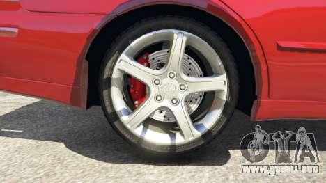 GTA 5 Lexus IS300 vista lateral trasera derecha