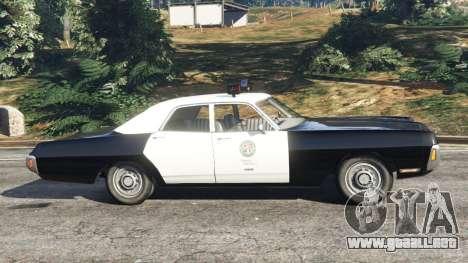 GTA 5 Dodge Polara 1971 Police vista lateral izquierda