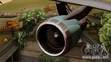 Boeing 747 Air Force One para la visión correcta GTA San Andreas