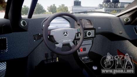 Mercedes-Benz CLK LM 1998 para GTA 4 vista hacia atrás