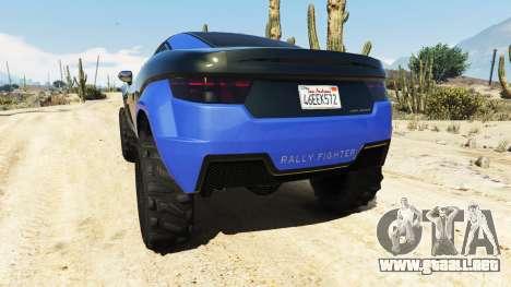 GTA 5 Coil Brawler Local Motors Rally Fighter vista lateral izquierda trasera