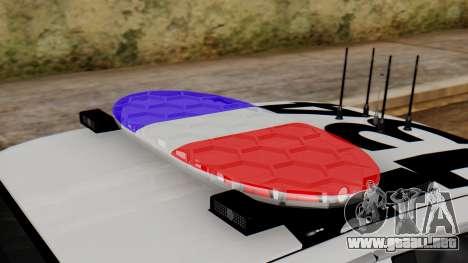 Police SF 2013 para GTA San Andreas vista hacia atrás