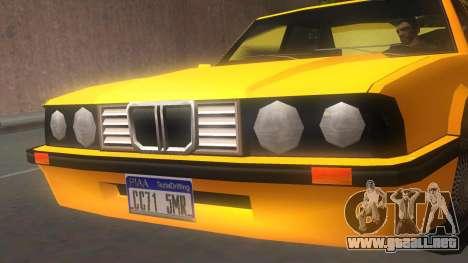 Vincent E30 para GTA San Andreas vista posterior izquierda