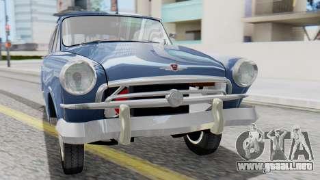 GAZ 21 Volga v1 para GTA San Andreas vista hacia atrás