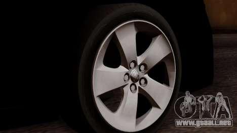 Toyota Prius ДПС para GTA San Andreas vista posterior izquierda