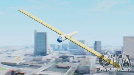 Fantástico avión para GTA San Andreas vista posterior izquierda