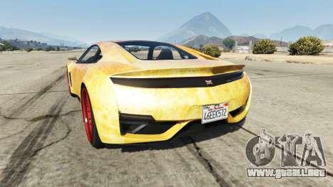 GTA 5 Dinka Jester (Racecar) Fire vista lateral izquierda trasera