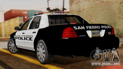 Police SF 2013 para GTA San Andreas left