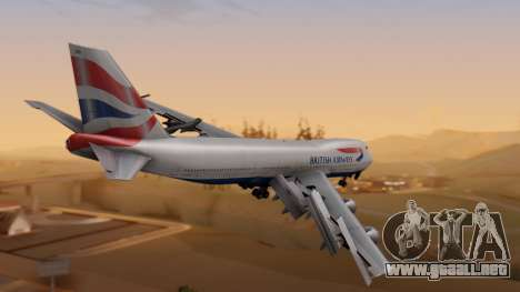 Boeing 747-200 British Airways para GTA San Andreas left
