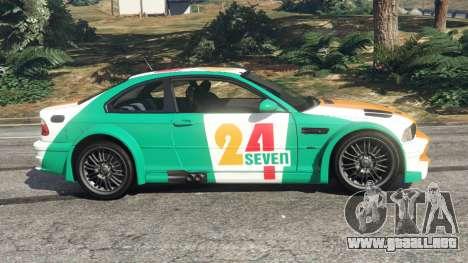 GTA 5 BMW M3 GTR E46 PJ3 vista lateral izquierda