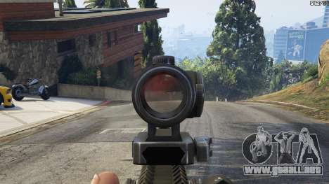GTA 5 Battlefield 4 AK-12 séptima captura de pantalla