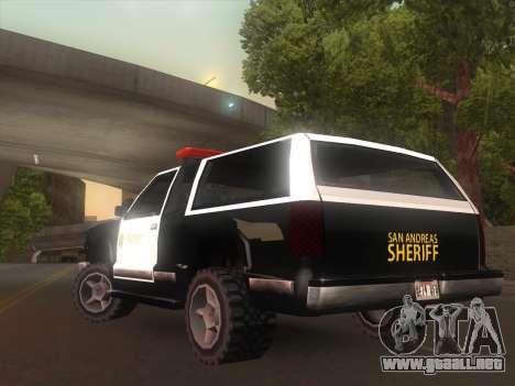 Yosemite Police 2015 para GTA San Andreas vista posterior izquierda