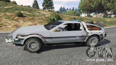 GTA 5 DeLorean DMC-12 Back To The Future v0.2 vista lateral izquierda