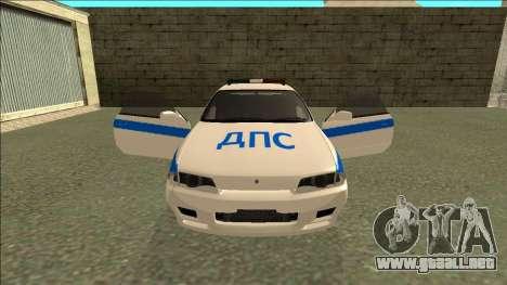 Nissan Skyline R32 Russian Police para las ruedas de GTA San Andreas