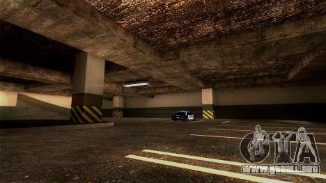 Nueva LSPD Aparcamiento para GTA San Andreas sexta pantalla