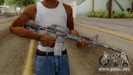 Original HD M4 para GTA San Andreas tercera pantalla
