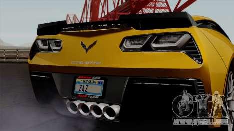 Chevrolet Corvette Z06 1.0.1 para visión interna GTA San Andreas