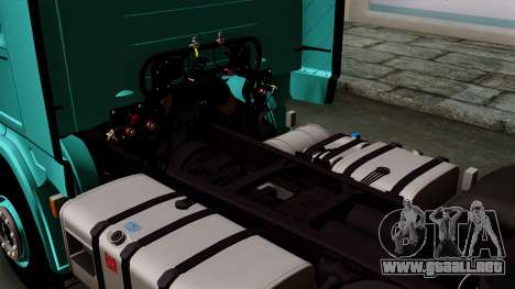 Scania R Topline para GTA San Andreas vista hacia atrás