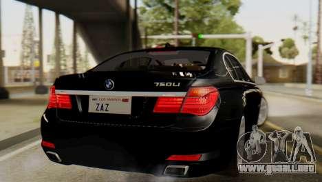 BMW 750Li 2012 para GTA San Andreas left