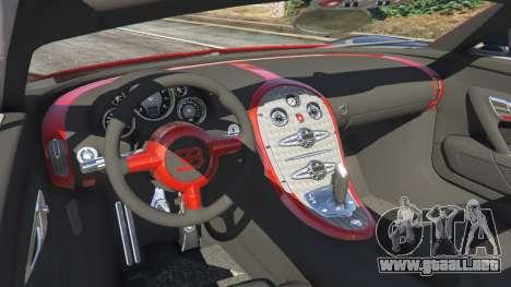 GTA 5 Bugatti Veyron Grand Sport v3.3 vista lateral trasera derecha