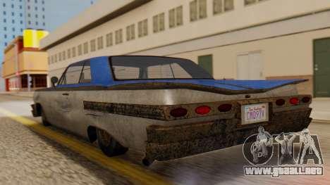 GTA 5 Declasse Voodoo Worn IVF para GTA San Andreas left