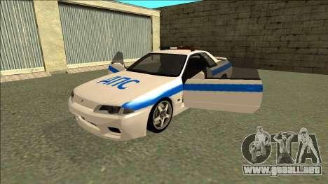 Nissan Skyline R32 Russian Police para el motor de GTA San Andreas