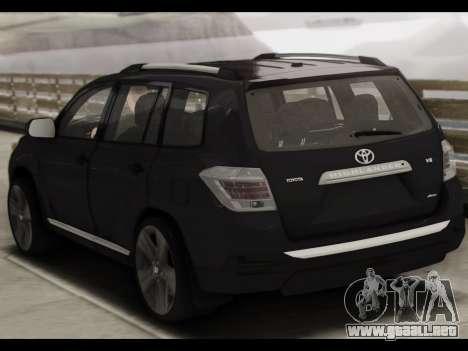 Toyota Highlander 2011 para la visión correcta GTA San Andreas