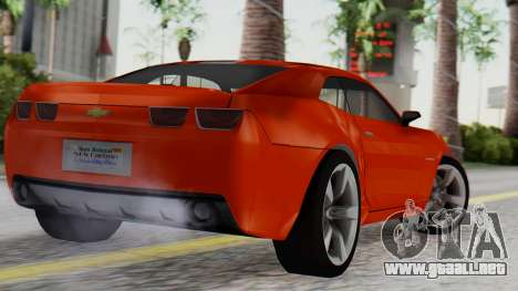 NFS Carbon Chevrolet Camaro IVF para GTA San Andreas left