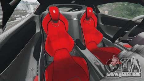 GTA 5 Ferrari LaFerrari 2015 v0.5 delantero derecho vista lateral