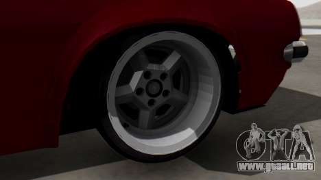 Opel Manta B1 para GTA San Andreas vista posterior izquierda