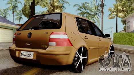 Volkswagen Golf 2004 Edit para GTA San Andreas left