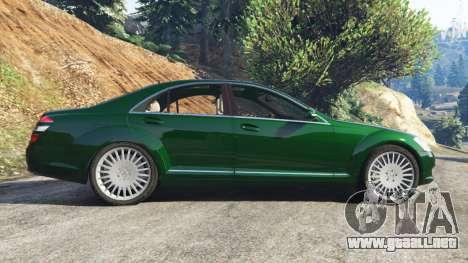 GTA 5 Mercedes-Benz S500 W221 v0.3.1 [Alpha] vista lateral izquierda