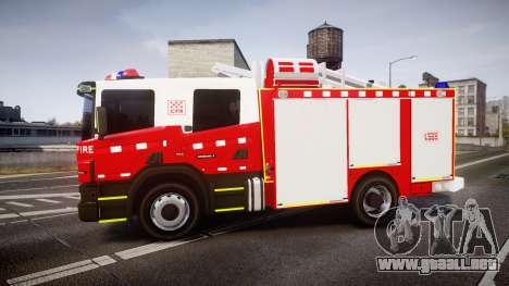 Scania 94D 260 Victorian CFA [ELS] para GTA 4 left