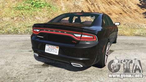 GTA 5 Dodge Charger RT 2015 v0.5 vista lateral izquierda trasera