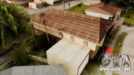 New House for CJ para GTA San Andreas tercera pantalla