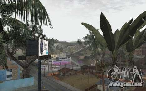 Los árboles de WarFace para GTA San Andreas quinta pantalla