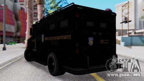 GTA 5 Enforcer Raccoon City Police Type 2 para GTA San Andreas left