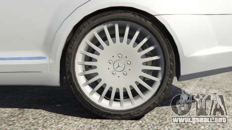 GTA 5 Mercedes-Benz S500 W221 v0.3 [Alpha] vista lateral trasera derecha