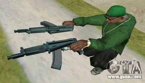 AKS-74U para GTA San Andreas sucesivamente de pantalla