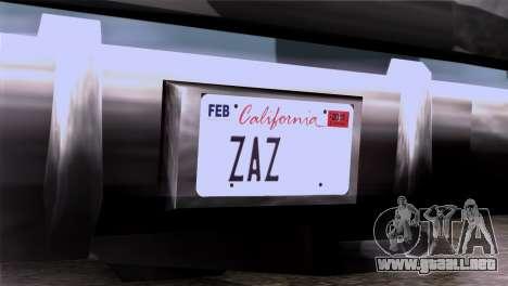 CA & NV License Plates para GTA San Andreas tercera pantalla