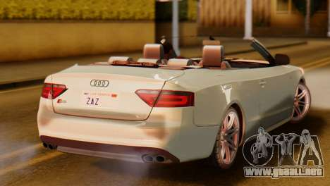 Audi S5 2010 Cabriolet para GTA San Andreas left