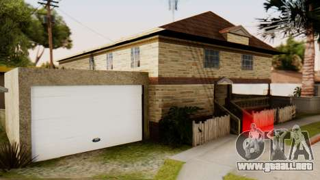 New House for CJ para GTA San Andreas segunda pantalla