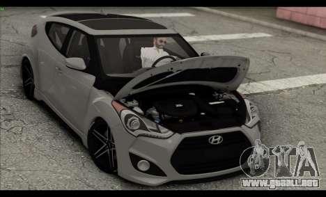 Hyundai Veloster 2012 para vista inferior GTA San Andreas
