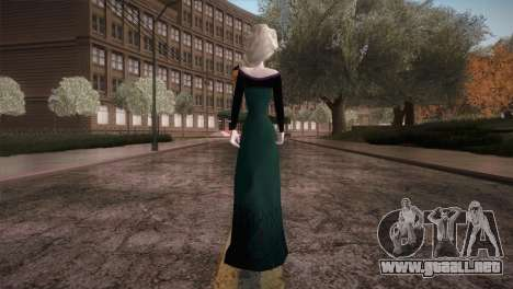 Elsa Frozen HQ Dress para GTA San Andreas tercera pantalla