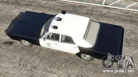 GTA 5 Dodge Polara 1971 Police vista trasera