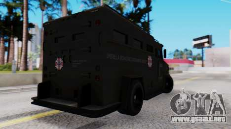 GTA 5 Enforcer Raccoon City Police Type 1 para GTA San Andreas left